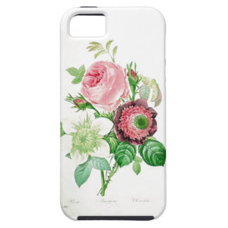 Vintage pink and white flowers iPhone 5 case