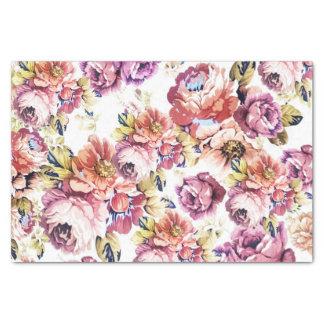 Vintage pink coral elegant roses floral pattern tissue paper