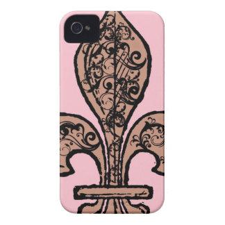 Vintage Pink Fleur de lis iPhone 4 Case-Mate Cases