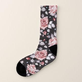 Vintage Pink Floral Pattern All-Over-Print Socks 1