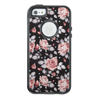 Vintage Pink Floral Pattern OtterBox iPhone 5/5s/SE Case