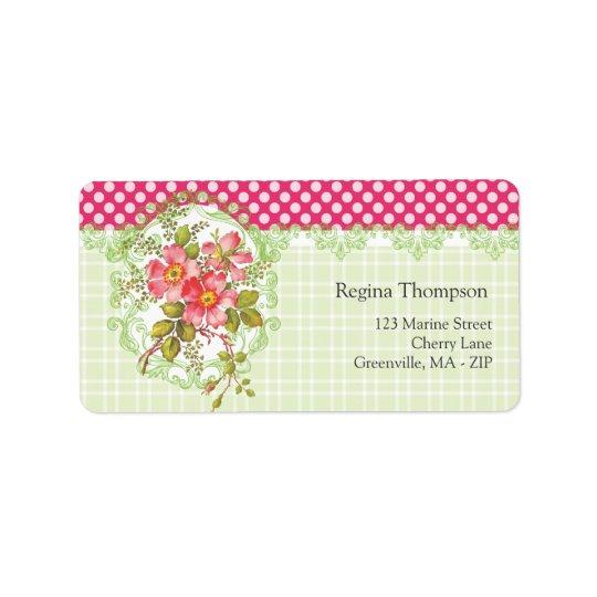 Vintage Pink Flowers Cottage Dream