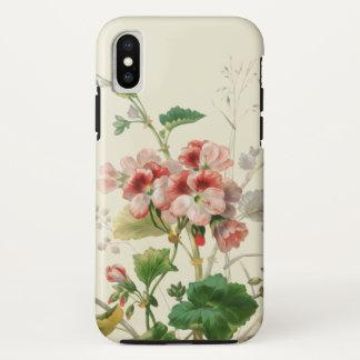 Vintage Pink Geraniums iPhone X Case