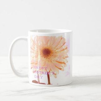 Vintage Pink Gerbera Daisy Mother's Day Coffee Cup
