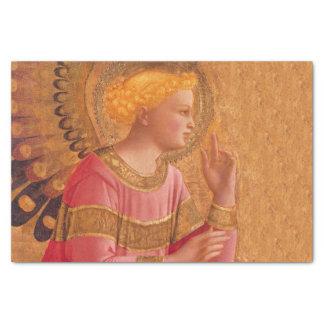 Vintage Pink Golden Christian Angel Tissue Paper