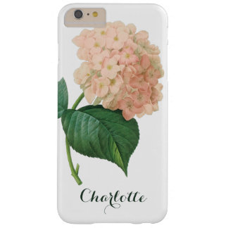 Vintage Pink Hydrangea Hortensia Flower by Redoute Barely There iPhone 6 Plus Case