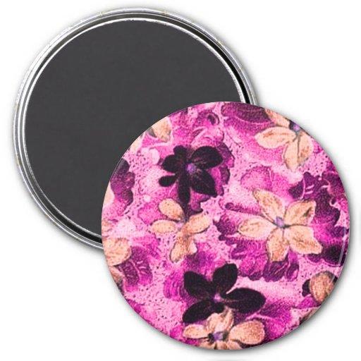 Vintage Pink Magenta Beige Violets Magnet