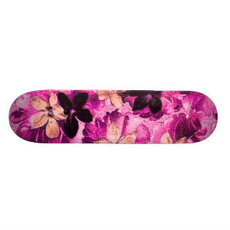 Vintage Pink Magenta Peach Violets Skateboard