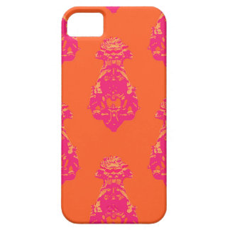 Vintage pink/orange colour background iPhone 5 covers
