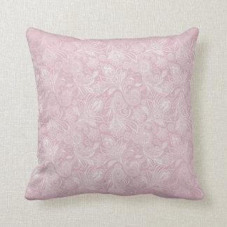 Vintage Pink Paisley Throw Pillow