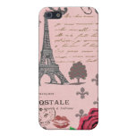 Vintage Pink Paris Collage Case For The iPhone 5