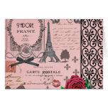 Vintage Pink Paris Collage Greeting Cards