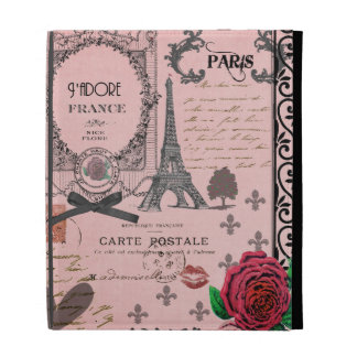 Vintage Pink Paris Collage ipad case