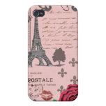 Vintage Pink Paris Collage iPhone 4/4S Cases