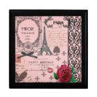 Vintage Pink Paris Collage jewellery box