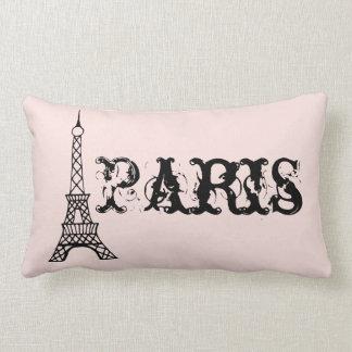 Vintage Pink Paris Eiffel Tower Pillow