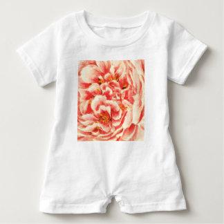 Vintage Pink Peonies Baby Romper