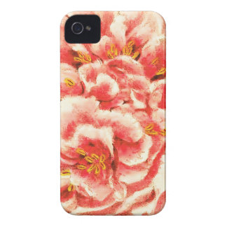 Vintage Pink Peonies iPhone 4 Case-Mate Case