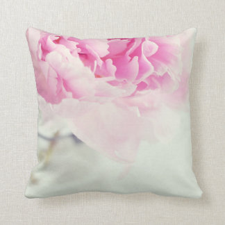 Vintage Pink Peony Mason Jar Throw Pillow