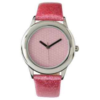 Vintage Pink Polka Dot Watch