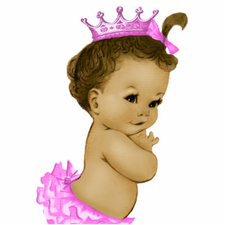 Vintage Pink Princess Baby Girl Shower Acrylic Cut Out
