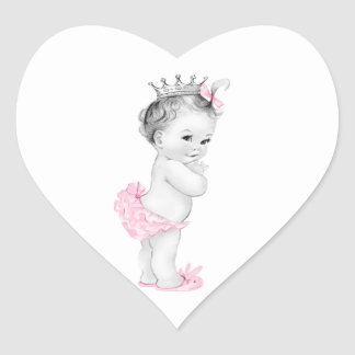 Vintage Pink Princess Baby Shower Stickers