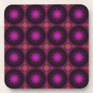 Vintage Pink Purple And Orange Mosaic Pattern Coaster