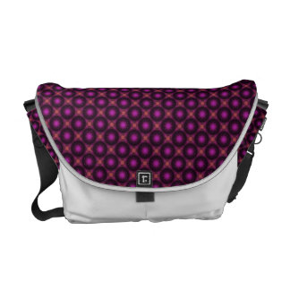 Vintage Pink Purple And Orange Mosaic Pattern Messenger Bag