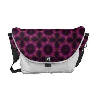 Vintage Pink Purple And Orange Mosaic Pattern Messenger Bags