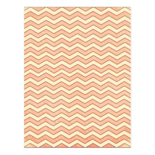 Vintage Pink. Retro Chevron Pattern Postcard