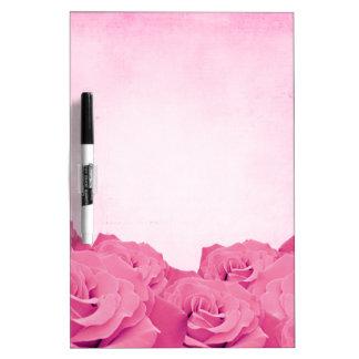 Vintage Pink Rose Dry Erase Boards