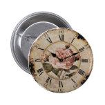Vintage Pink Rose Floral steampunk Wedding 2 Inch Round Button