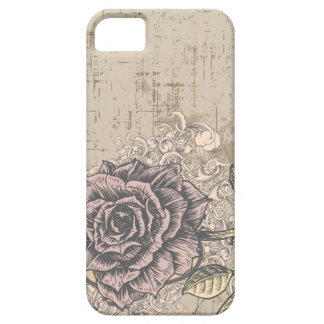 Vintage Pink Rose Grunge Background Case For The iPhone 5