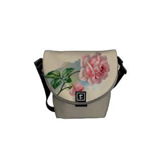 Vintage Pink Rose Mini Messenger Bag