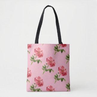 Vintage Pink Rose Tote Bag