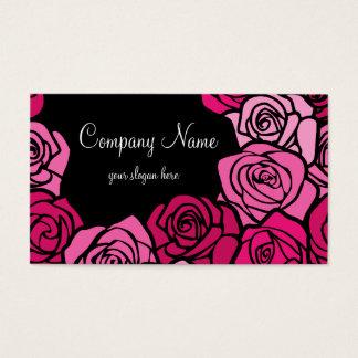 Vintage pink roses Business Card