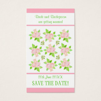 Vintage Pink Roses Customizable Save the Date card