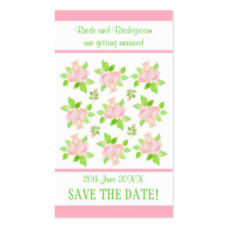 Vintage Pink Roses Customizable Save the Date card Business Card Templates