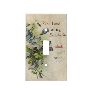 Vintage Pink Roses Flowers Scripture Verse Light Switch Cover