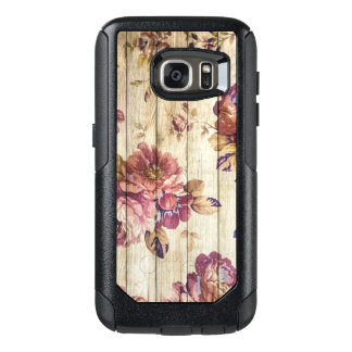 Vintage Pink Roses on Wood Samsung Galaxy S7 Case