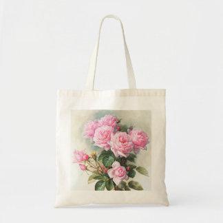 Vintage Pink Roses Painting Tote Bag