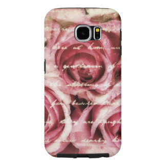 Vintage Pink Roses Samsung Galaxy S6 Cases