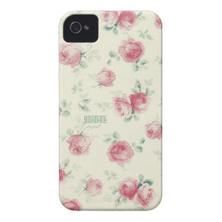 Vintage Pink Roses Texture Case-Mate iPhone 4 Case
