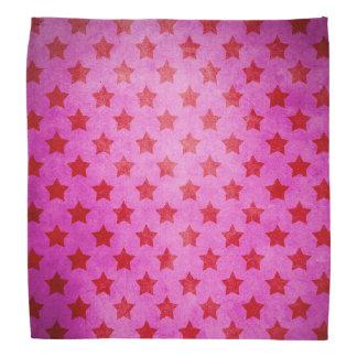Vintage Pink Stars Pattern Bandana