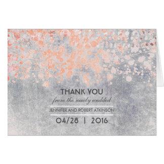 Vintage Pink Wedding Thank You Card