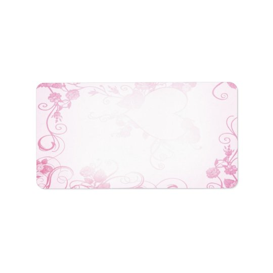 Vintage Pink & White Wedding Label