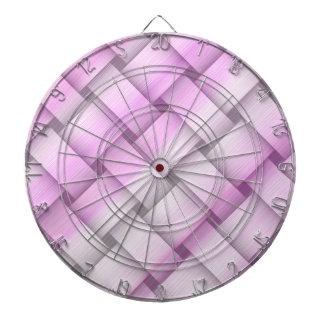 Vintage pink wicker art graphic design dart board