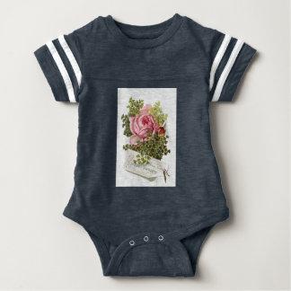 Vintage-pinkrose-advetisement Baby Bodysuit