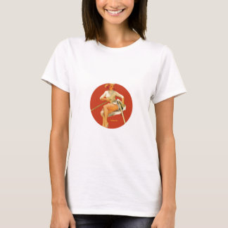 Vintage Pinup Digging Deep T-Shirt