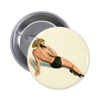 Vintage Pinup Girl Original Coloring 20 2 Inch Round Button